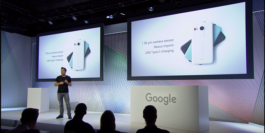 Screen capture from Google September Event 2015 on YouTube