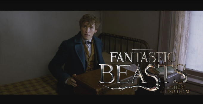 Screen capture from Fantastic Beasts trailer on YouTube, logo by sachso74 on DivientArt