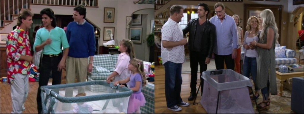 The family relives a classic Full House moment