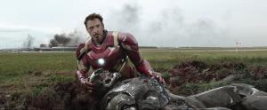 Tony With injured Rhodey