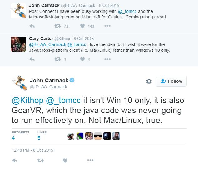 Tweet John Carmack