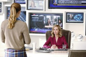 Calista Flockhart as Cat Grant in Supergirl