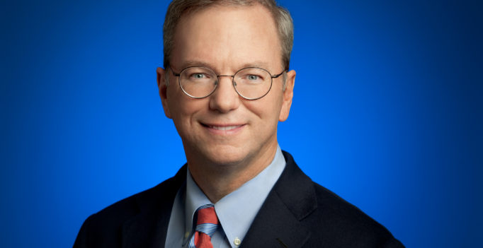 Photo of Eric Schmidt via Google Press Images