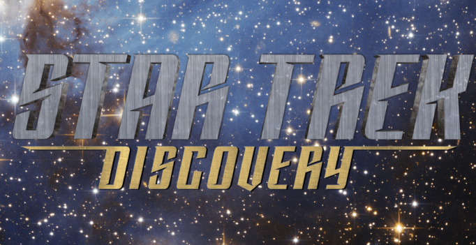 Starsinthesky by European Space Agency, Star Trek Discovery logo via CBS